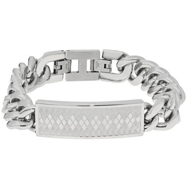 Stainless Steel Argyle Identification Bracelet