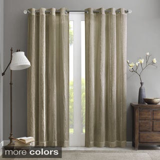 Madison Park Renee Fuzzy Sheer Curtain Panel