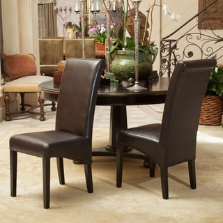 Christopher Knight Home Morgan Bonded Leather Dining Chair (Set of 2)