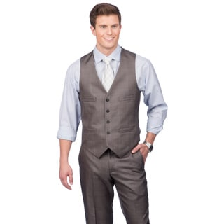 Kenneth Cole Crème Label Men's Slim Fit Grey Suit Separates Vest