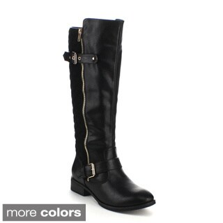 Refresh Women's 'Warsa-06' Side Zipper Knee-high Riding Boots