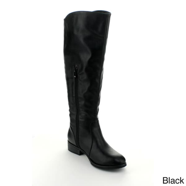 Refresh Women's 'Warsa-03' Knee-high Riding Boots with Elastic Back Panel