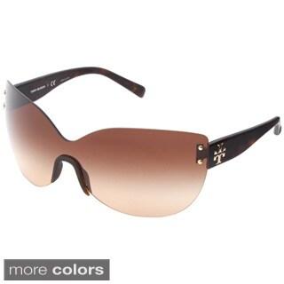 Tory Burch Women's TY7069 Wrap-around Rimless Sunglasses