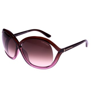 Tom Ford Women's 'Sandra TF297 50F' Oval Sunglasses