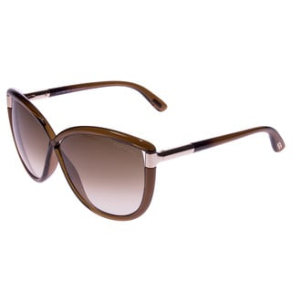 Tom Ford Unisex Abbey TF327 48F Brown Sunglasses