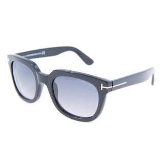 Tom Ford Unisex 'Campbell TF0198 01B' Black Thick-rimmed Sunglasses