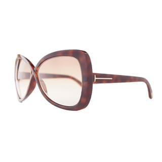 Tom Ford Women's 'Jade FT0277 52F' Brown Butterfly Sunglasses