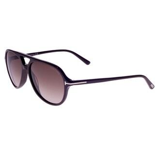 Tom Ford Unisex 'Jared TF331 50K' Woodgrain Aviator Sunglasses