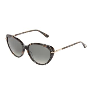 Tom Ford Women's 'Willa FT0293 20B' Black/ Gold Aviator Sunglasses