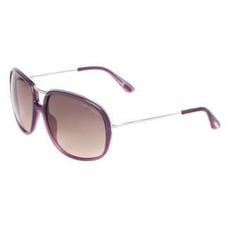 Tom Ford Women's 'Cori FT0282 78B' Purple Passion Aviator Sunglasses