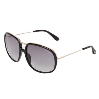 Tom Ford Women's 'Cori FT0282 01B' Black/ Purple Aviator Sunglasses