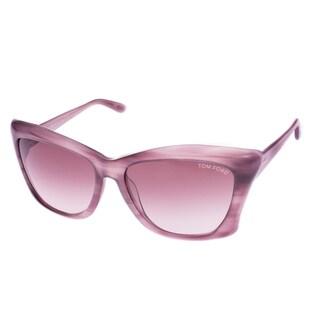 Tom Ford Women's 'Lana TF280 83Z' Purple Cat-eye Sunglasses