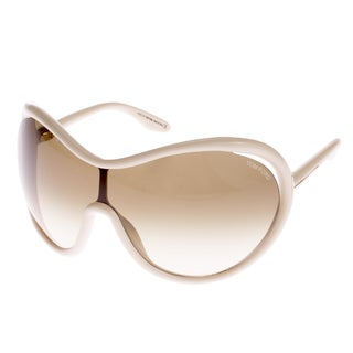 Tom Ford Women's 'Grant TF267 25F' Ivory Rectangle Sunglasses