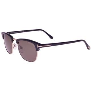 Tom Ford Unisex 'Henry TF248 05N' Black/ Gold Aviator Sunglasses