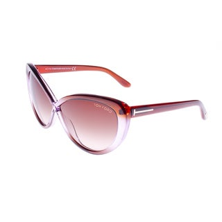 Tom Ford Women's 'Madison TF253 50Z' Purple Cat-eye Sunglasses