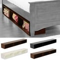 LightHeaded Beds Open Under Bed Storage in Chocolate