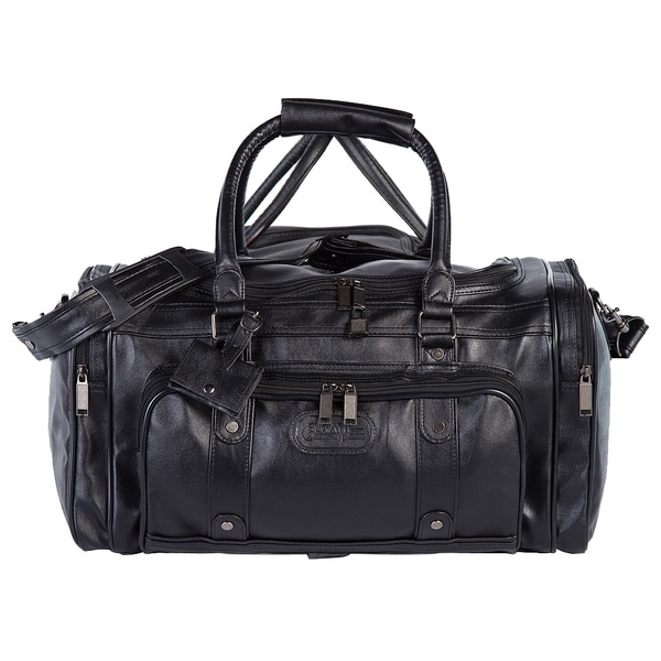 Bugatti Black Zippered Carry On Duffel Bag