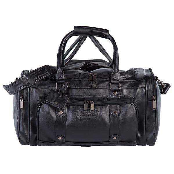 Bugatti Black Zippered Carry On Duffel Bag