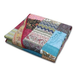 New Bohemian Cotton Patchwork Throw Blanket