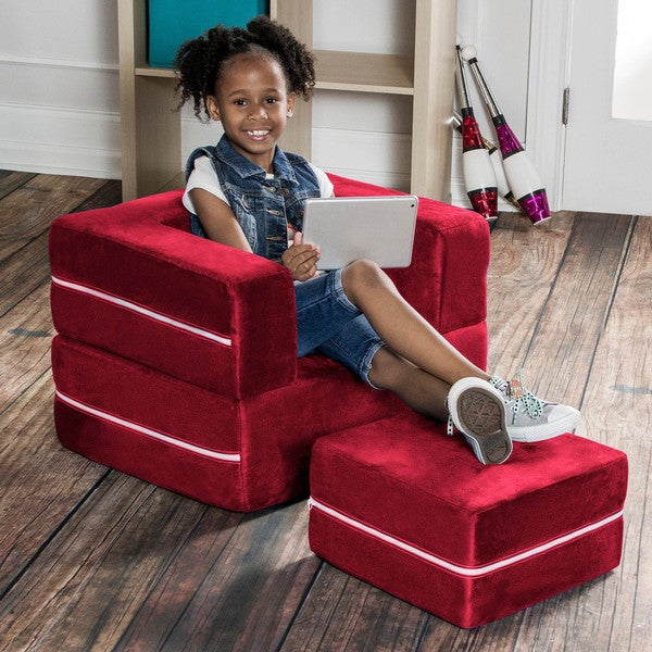 Jaxx Zipline Jr. Modular Kids Chair and Fold-out Sleeper