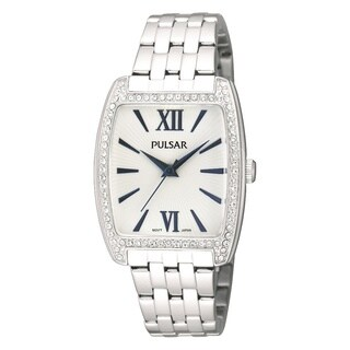 Pulsar Women's PH8095 Crystal Stainless Steel Watch