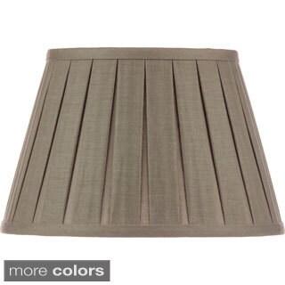 Open Box Pleat Linen Lampshade 12-inch