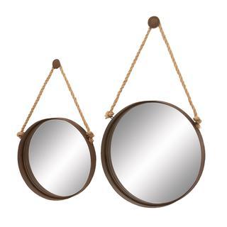DHP Metal Mirrors on Rope (Set of 2)