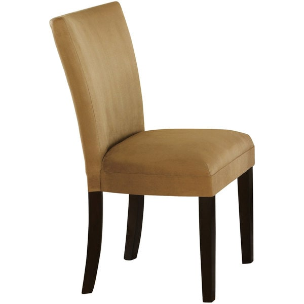 Microfiber Parson Chair Set of 2 Overstock