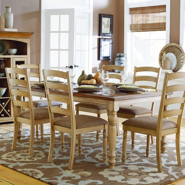 TRIBECCA HOME Carlingford Buttermilk Country Extending Dining Table