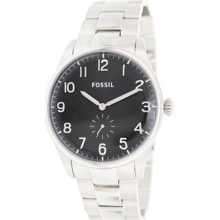 Fossil Men's FS4852 The Agent Silvertone Quartz Analog Watch