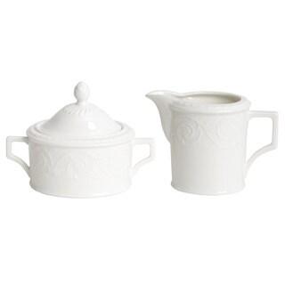 Red Vanilla Riviera Creamer and Sugar Bowl Set