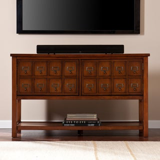 Upton Home Primrose Brown Mahogany Apothecary Console and TV Stand