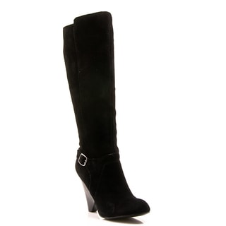 Nvy Women's 'Corrie' Suede Buckled Knee-high Boots