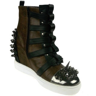 Hades Women's 'Skylar' Buckled Straps Spike Sneakers