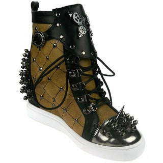 Hades Women's 'Rhino' Quilted Stitch Metal Studs Sneakers