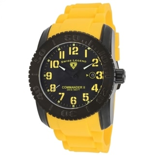 Swiss Legend Men's Commander SL-10068-BB-01-YLSA Yellow Watch