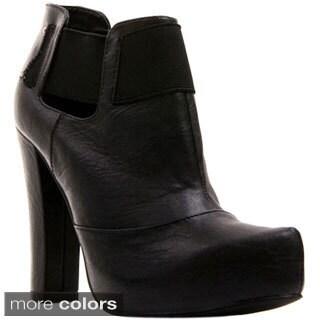 Gomax Women's 'Dayna-10' Pointed Toe Chunky Heel Booties