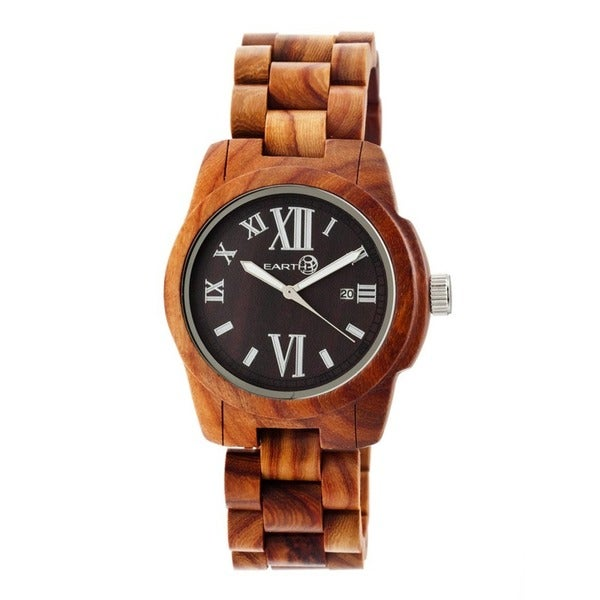 Earth Men's Heartwood Red Wood Red Analog Watch