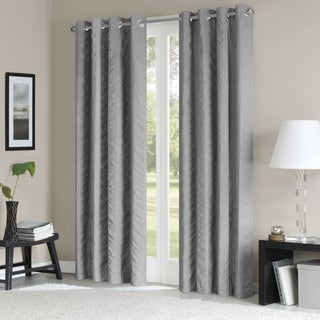 Madison Park Lawrence Vertical Stripe Solid Curtain Panel