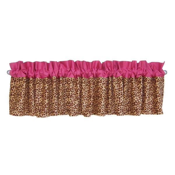 TrendLab Berry Leopard Window Valance