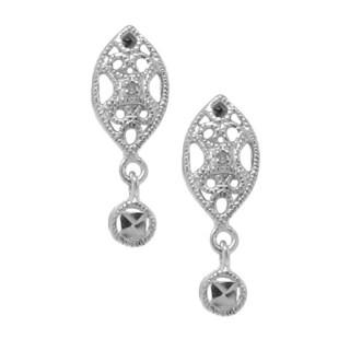 Gioelli Sterling Silver Diamond Accent Dangle Earrings