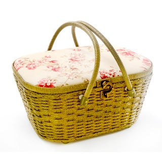 Dritz St. Jane Picnic Shape Sewing Basket