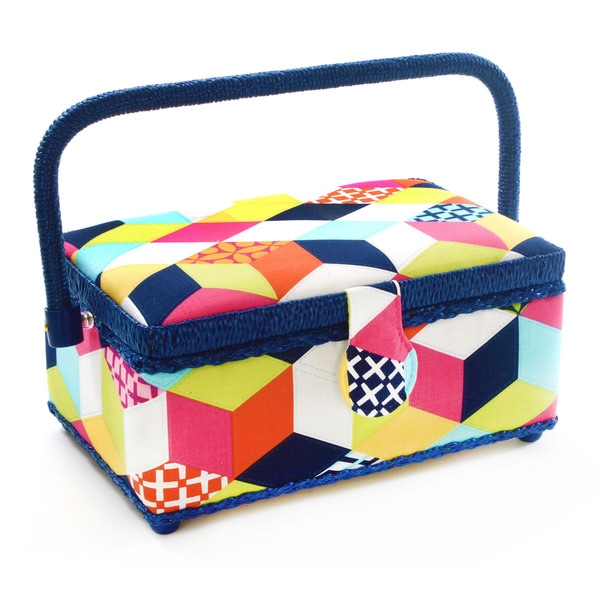 Dritz St. Jane Small Rectangle Sewing Basket