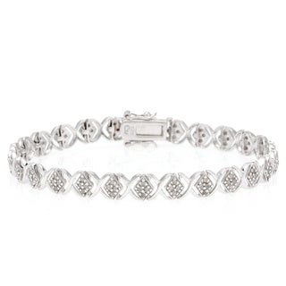 Sterling Silver 1ct TDW Round-cut Diamond Tennis Bracelet (J-K, I2-I3)
