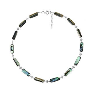 Exotic Abalone Karen Hill Tribe and .925 Silver Necklace (Thailand)