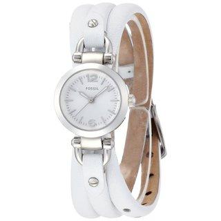 Fossil Women's ES3479 Georgia White Wrap Watch