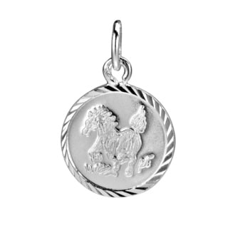 Horse Chinese Zodiac Sterling Silver Pendant or Charm (Thailand)