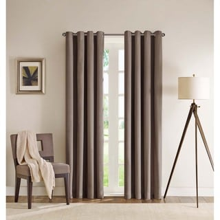 Madison Park Wingate Flame Retardant Energy Efficient Herringbone Curtain Panel