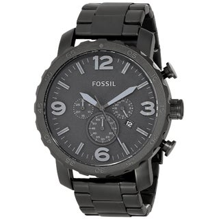 Fossil Men's JR1401 Nate Black Stainless Steel Watch