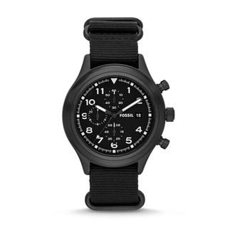 Fossil Men's JR1454 Chronograph Black Canvas Watch